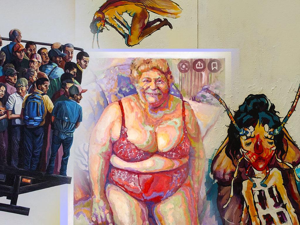 Pintoras latinoamericanas: Tres pinceladas grotescas desde un valle en gestación