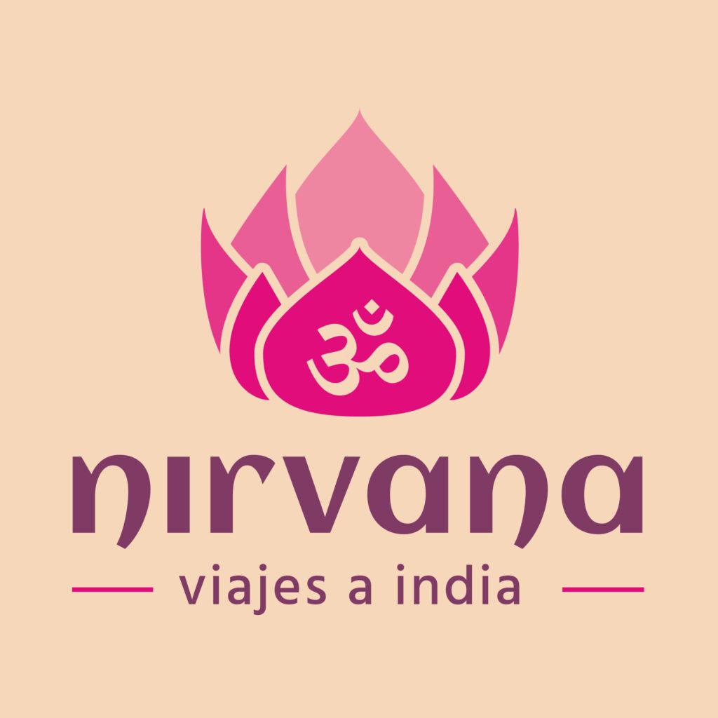nirvana viajes a india branding logo